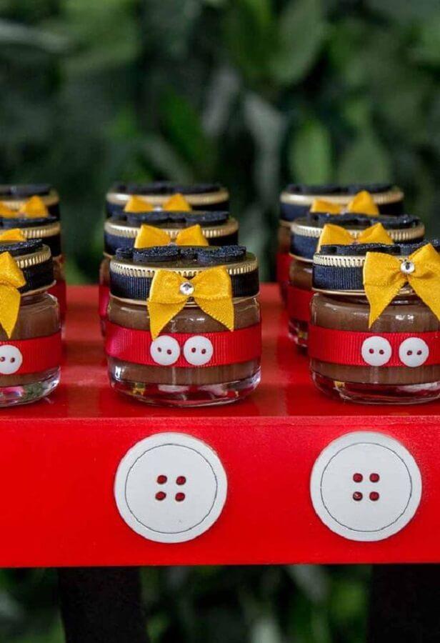 potinhos de doce personalizados para festa do Mickey Foto Pinosy