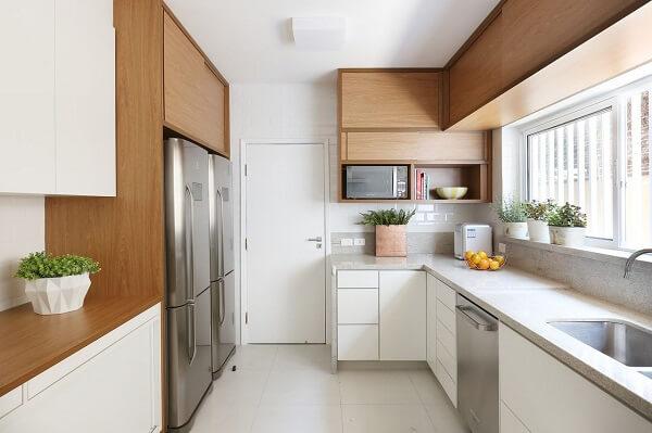 aproveite todos os espaços do cômodo planejando uma cozinha em l