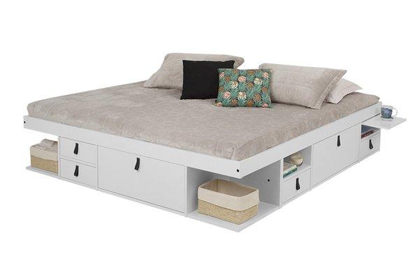 Cama com gavetas - cama de casa com gavetas, nichos e módulos