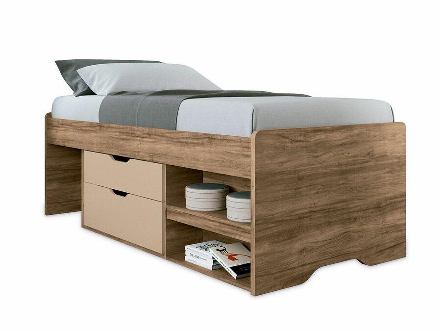 Cama com gavetas - cama de solteiro com gavetas e nichos