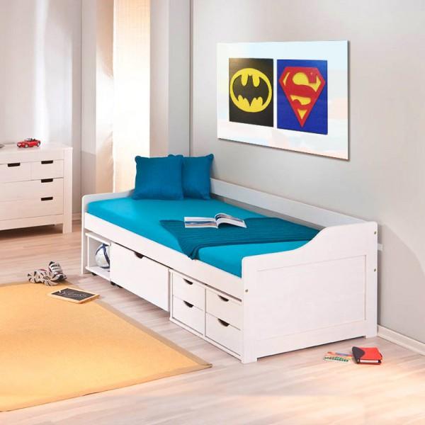 Cama com gavetas - cama infantil com gavetas e nichos