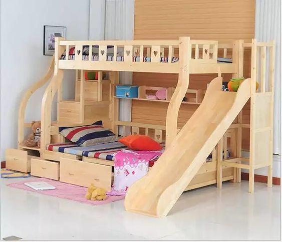 Cama com gavetas - cama infantil multifuncional com escorredador