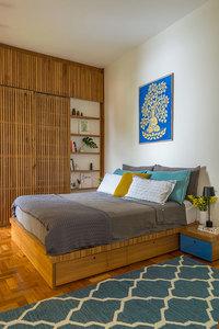 Cama com gavetas - quarto com cama e casal com gavetas