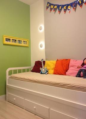 Cama com gavetas - quarto infantil com cama de solteiro com gavetas