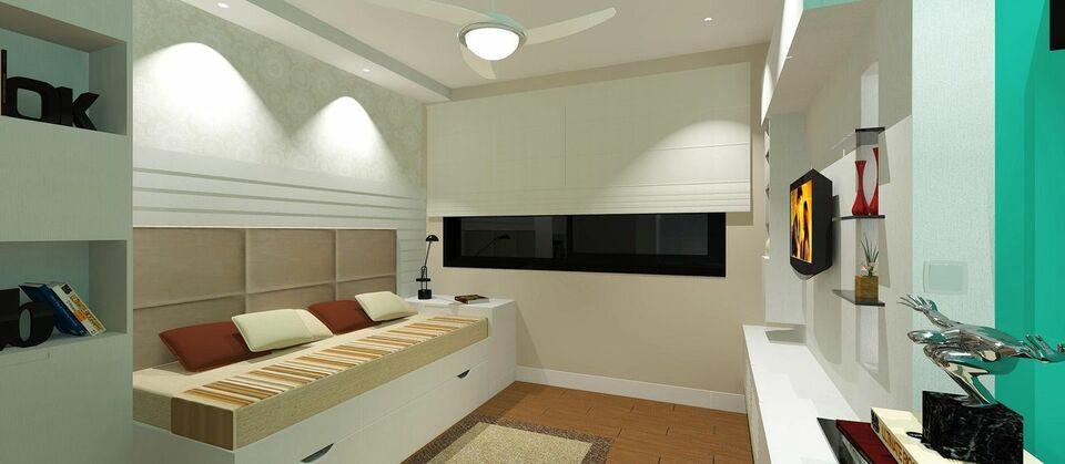 Cama com gavetas - sala de estar com sofá cama com gavetas