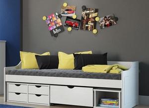 Cama com gavetas - sofá cama com gaveta e nichos