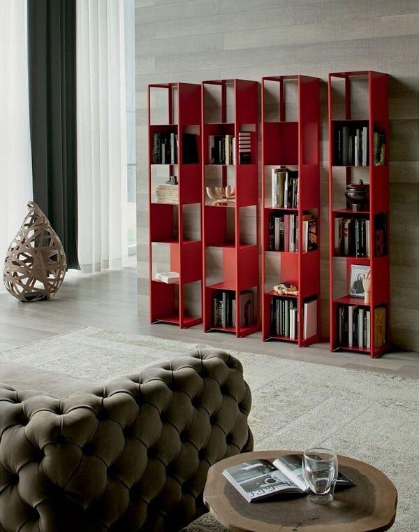 Conjunto de prateleira para livros com design moderno