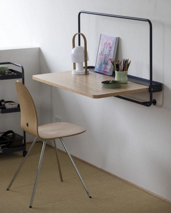 Escrivaninha mesa dobrável para quarto