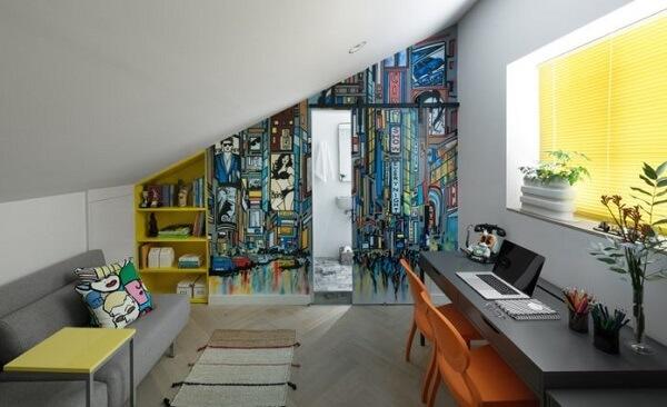 Estruture uma área de home office descontraída
