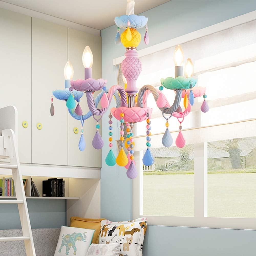 Lustre infantil para quarto colorido