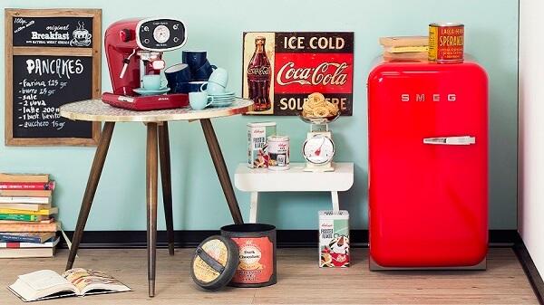 Mini geladeira para decoração da cozinha