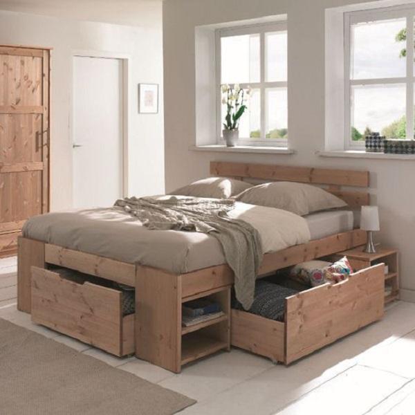 Modelo de cama com gavetas e nichos. Fonte: Pinterest