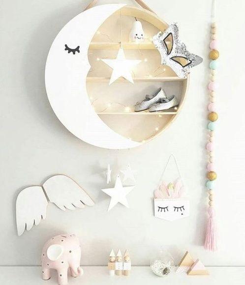 Nicho redondo para quarto de bebe