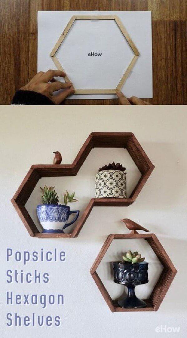 Nichos de palitos de picolé, DIY baratinhos para decorar sua casa