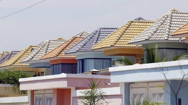 Os tipos de telhas de concreto podem ser encontradas em diferentes cores. Fonte: Arkpad