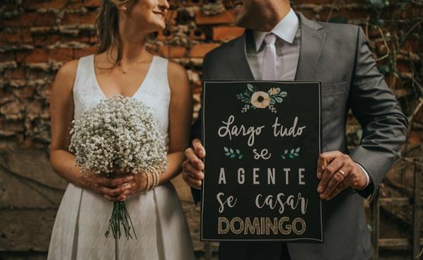 Plaquinhas de casamento criativas para o grande dia
