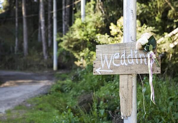 Plaquinhas informativas para casamento