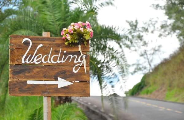 Plaquinhas para casamento informativas