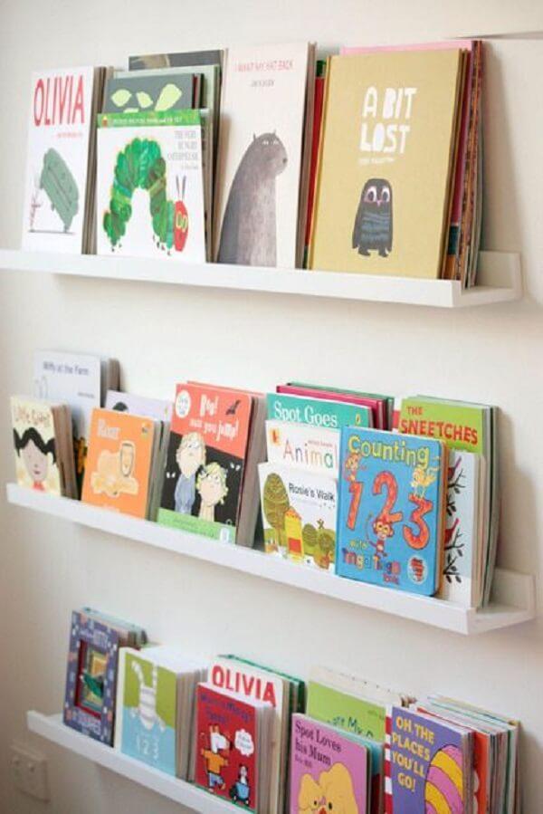Prateleiras para livros infantil incentivam as crianças na leitura