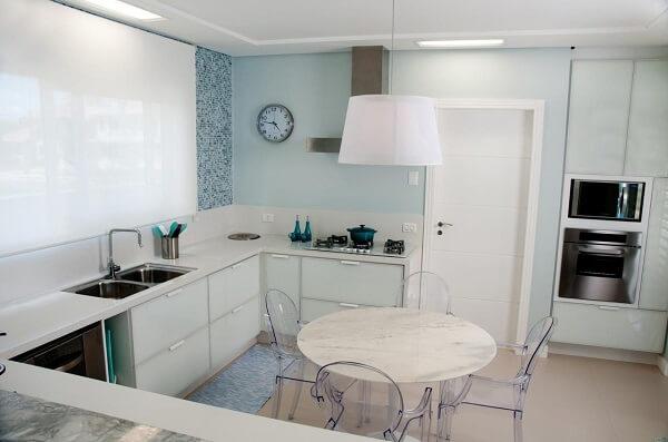 projeto de cozinha em l integrada a sala de jantar
