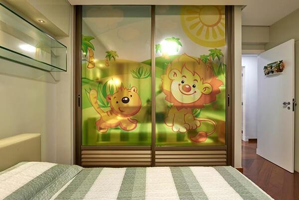 Quarto infantil planejado de apartamento