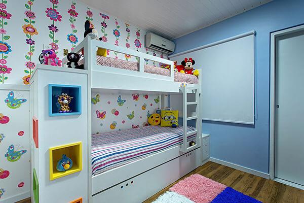 Quarto infantil planejado simples de menina