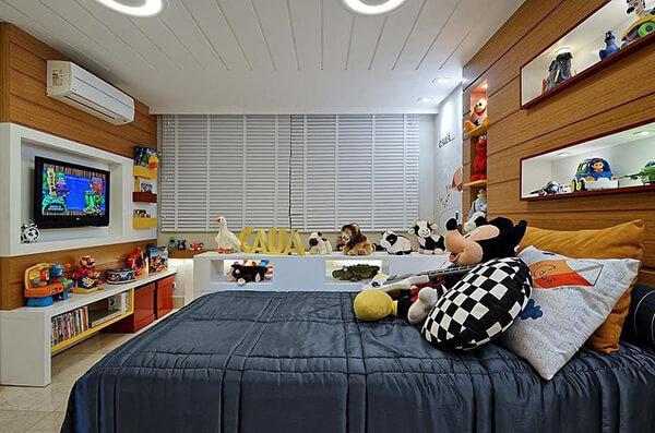 Quarto infantil planejado simples para apartamento