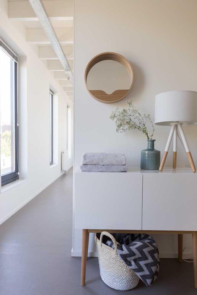Sala com nicho redondo
