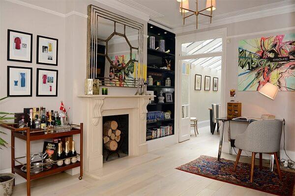 Utilize carrinho bar na decoração da sua casa