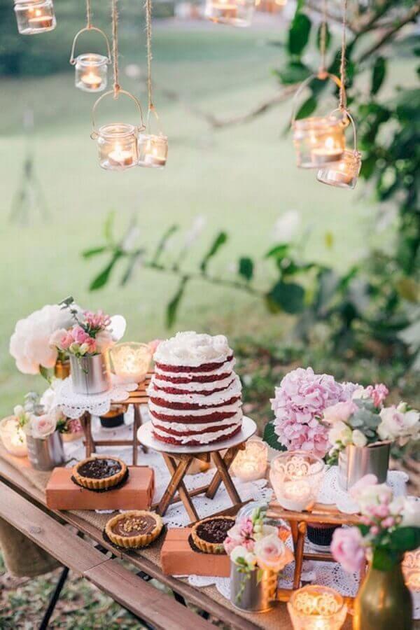 bodas de casamento ao ar livre com decoração rústica Foto Why Santa Claus