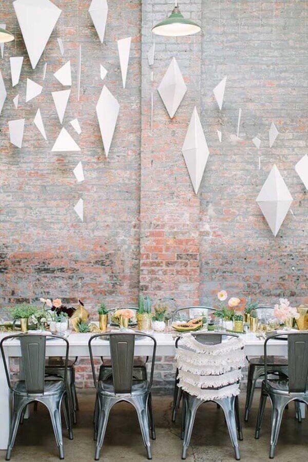 bodas de casamento com decoração moderna e minimalista Foto Shelterness