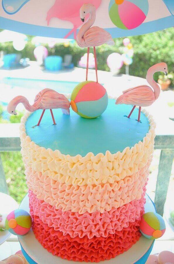 bolo colorido para festa na piscina Foto Lemon Jelly Cake