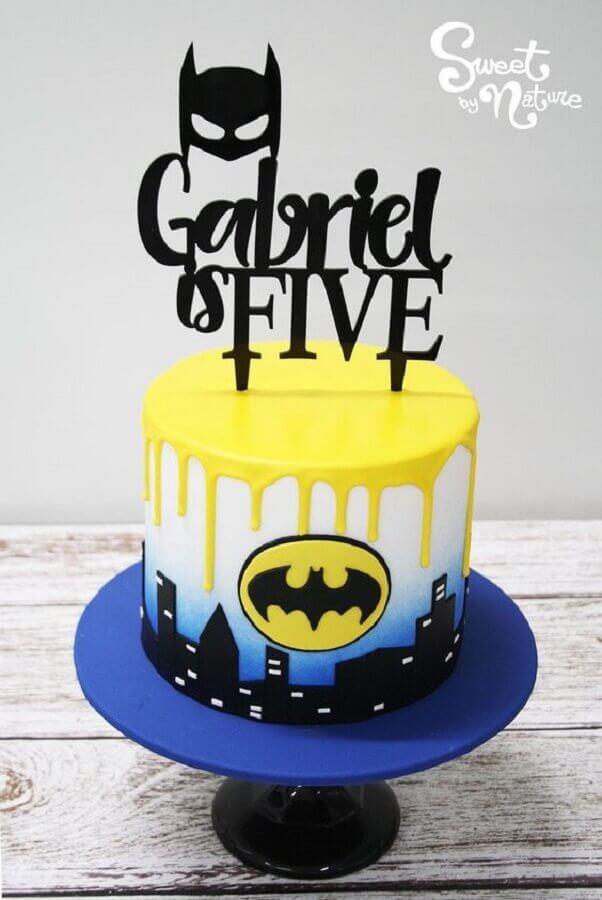 bolo para festa do batman Foto Sweet by Nature