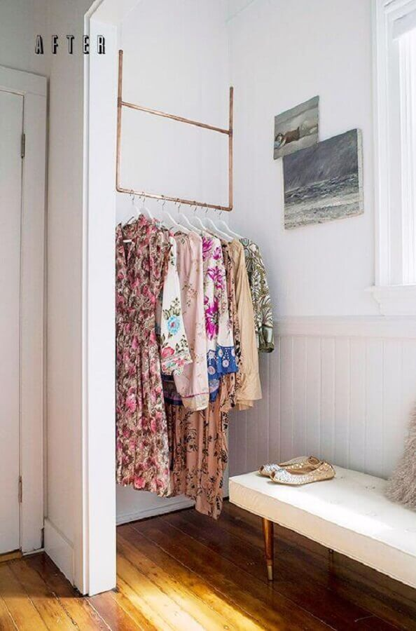 cabideiro arara para closet Foto Côté Maison