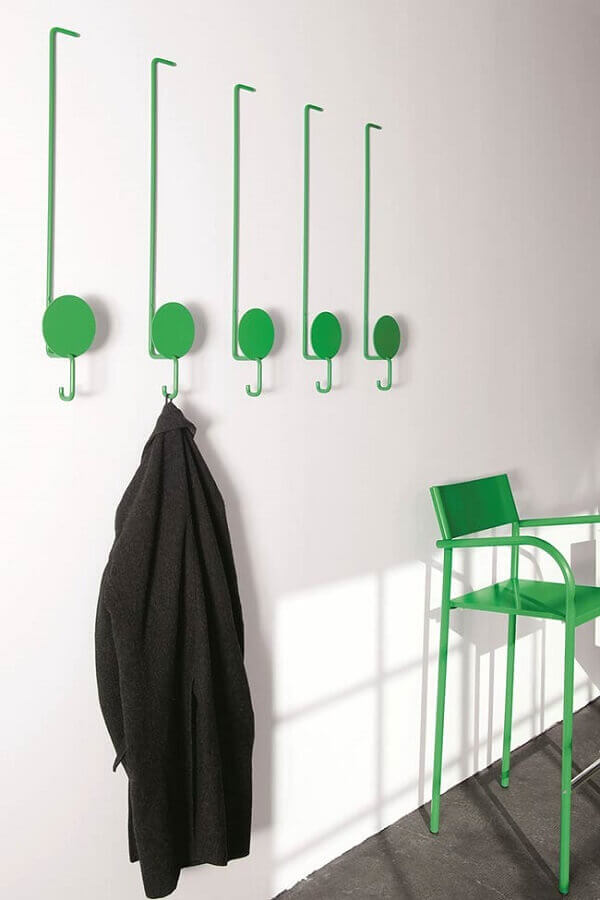 cabideiro de parede verde Foto Get Beautified