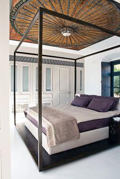 cama com dossel