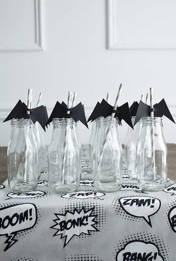 canudinhos personalizados para festa do batman simples Foto Kara's Party Ideas