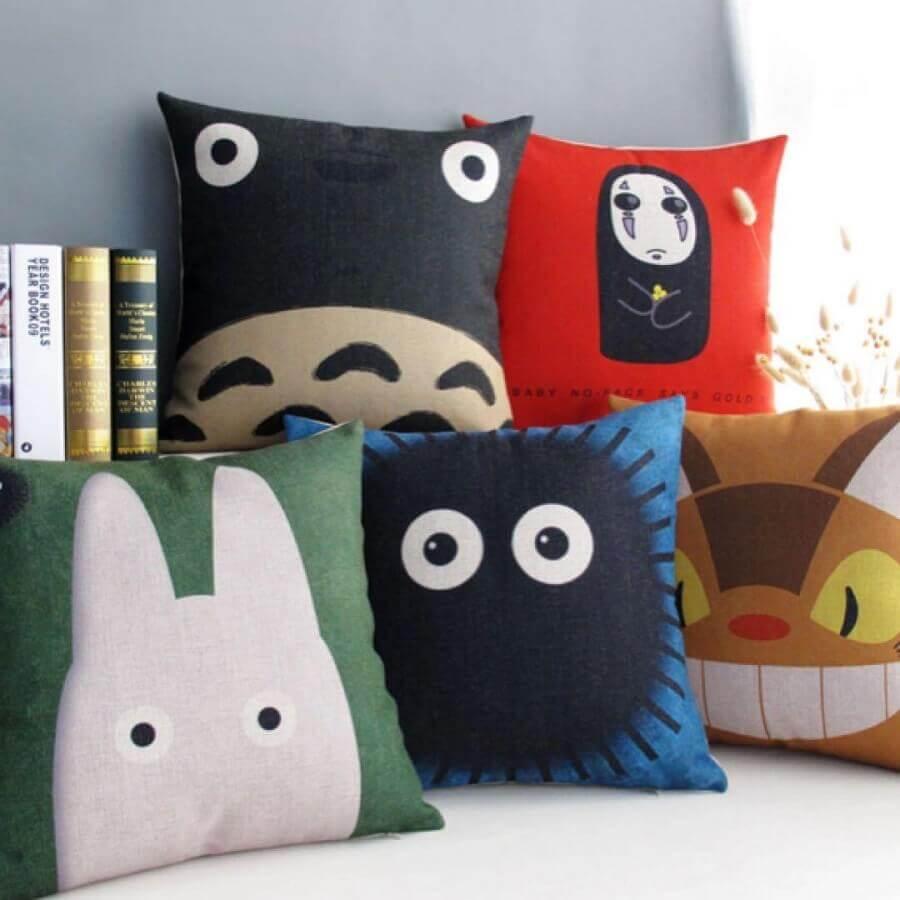 capas para almofadas coloridas e divertidas Foto Pinterest