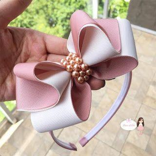 como fazer laço de fita - arquinho com laço decorado