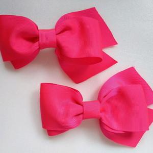 como fazer laço de fita - laços de tecido rosas duplos