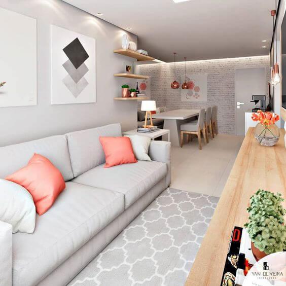 Cores para sala de estar clean