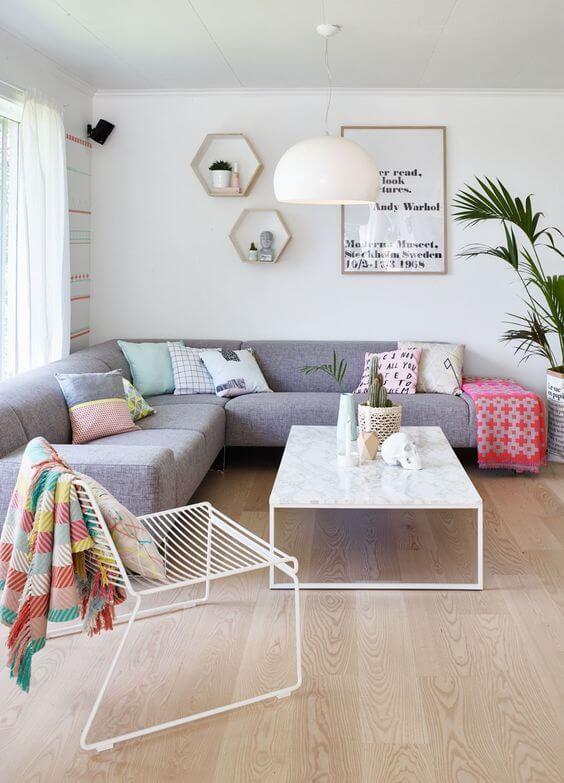 Cores para sala de estar neutra