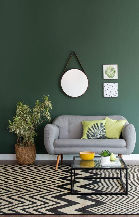 Cores para sala de estar verde
