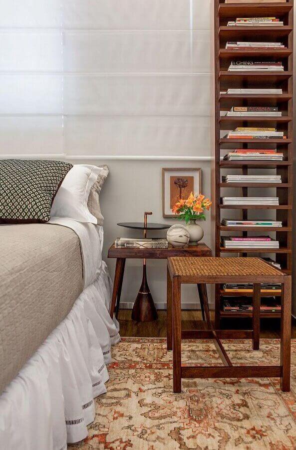 decoração com estante de livros para quarto Foto Pinterest