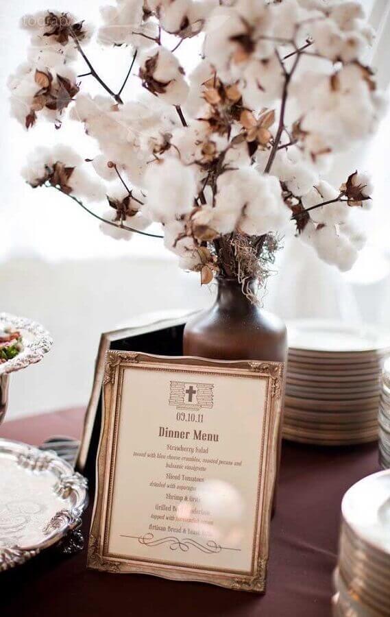 decoração de bodas de algodão Foto Anna and Spencer Photography