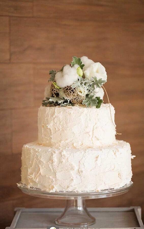 decoração de bolo para bodas de algodão Foto 100 Layer Cake