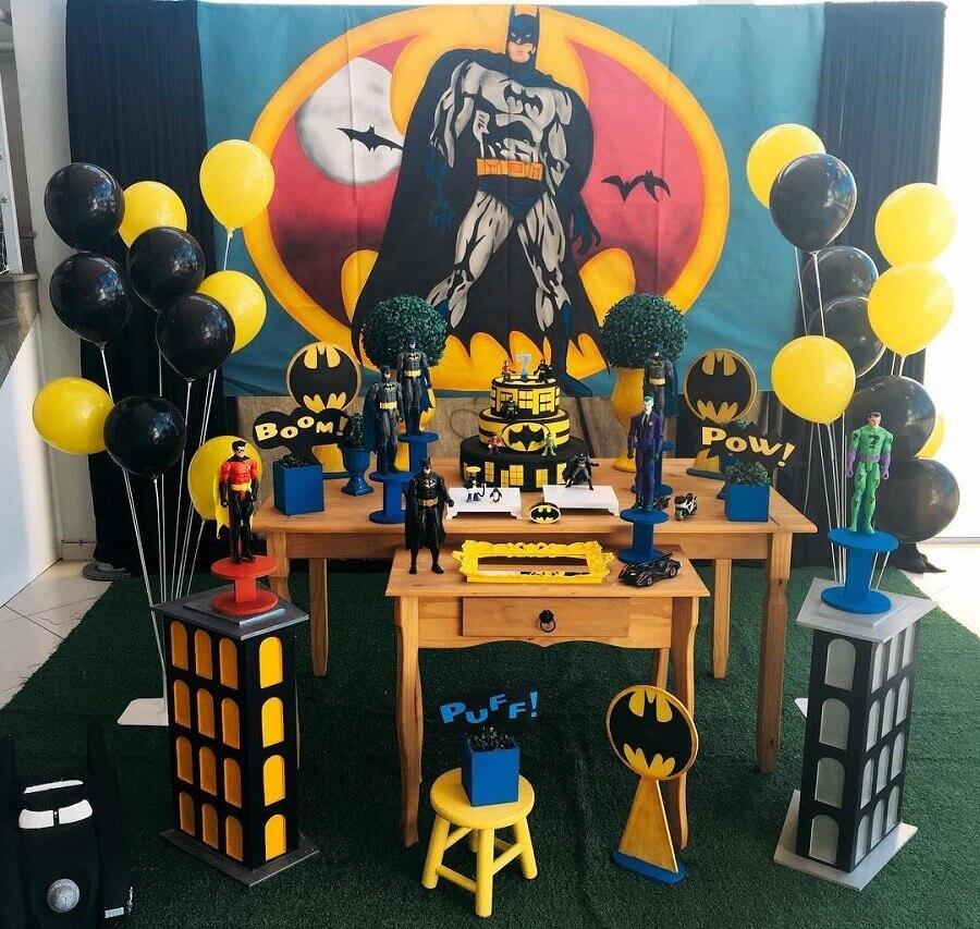 decoração festa do batman simples Foto Lollipop Eventos