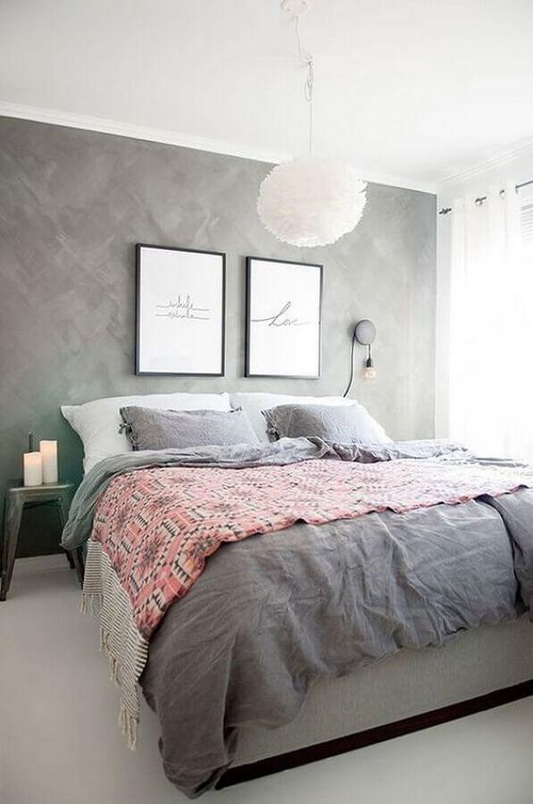 decoração moderna com lustre para quarto de casal simples Foto Pinterest