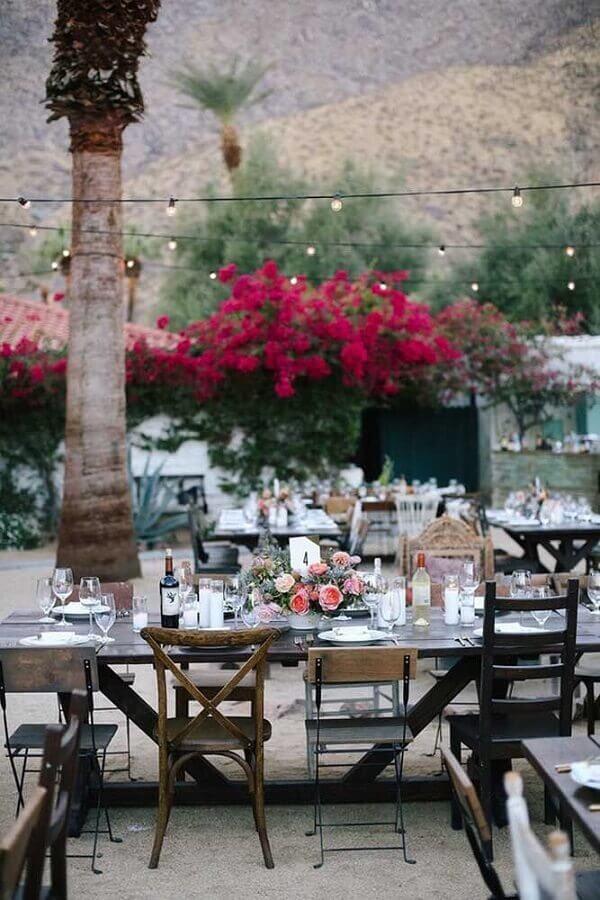 decoração para bodas de casamento rústico ao ar livre Foto Pinterest