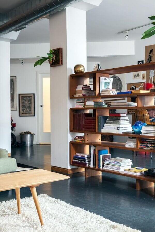 decoração para estante de madeira para livros Foto Meubles Hegoa